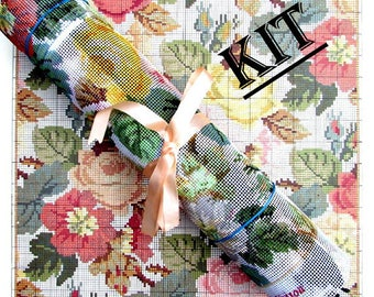 """ELIZABETH BRADLEY KIT//*.""""Repeating Roses""""A Vintage Floral  Cushion From the Decoratve Victorian Needlework/Was (230.00) Now!"""