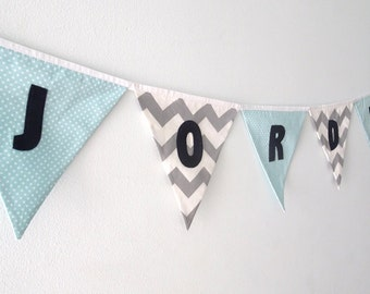 Customize my bunting with LETTERS - ADD ON only - Must be purchased with a Large or Medium sized flag bunting from our store.