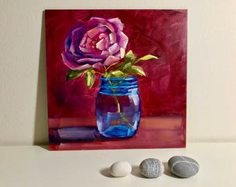Origional oil painting Rose