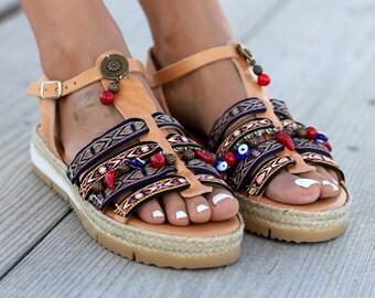 "Anti slippery Leather sandals, Ancient Greek Sandals, Soft Sole, Women's Shoes, ""La Chica"" sandals"
