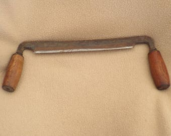 Antique Drawknife, Wood Peeler, Tree Bark Remover; Antique Logging Tool
