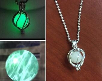 Final Fantasy 7 Materia Necklace, Holy Materia necklace, Glow in the Dark Materia Necklace, FFVII Materia, Final Fantasy Materia necklace