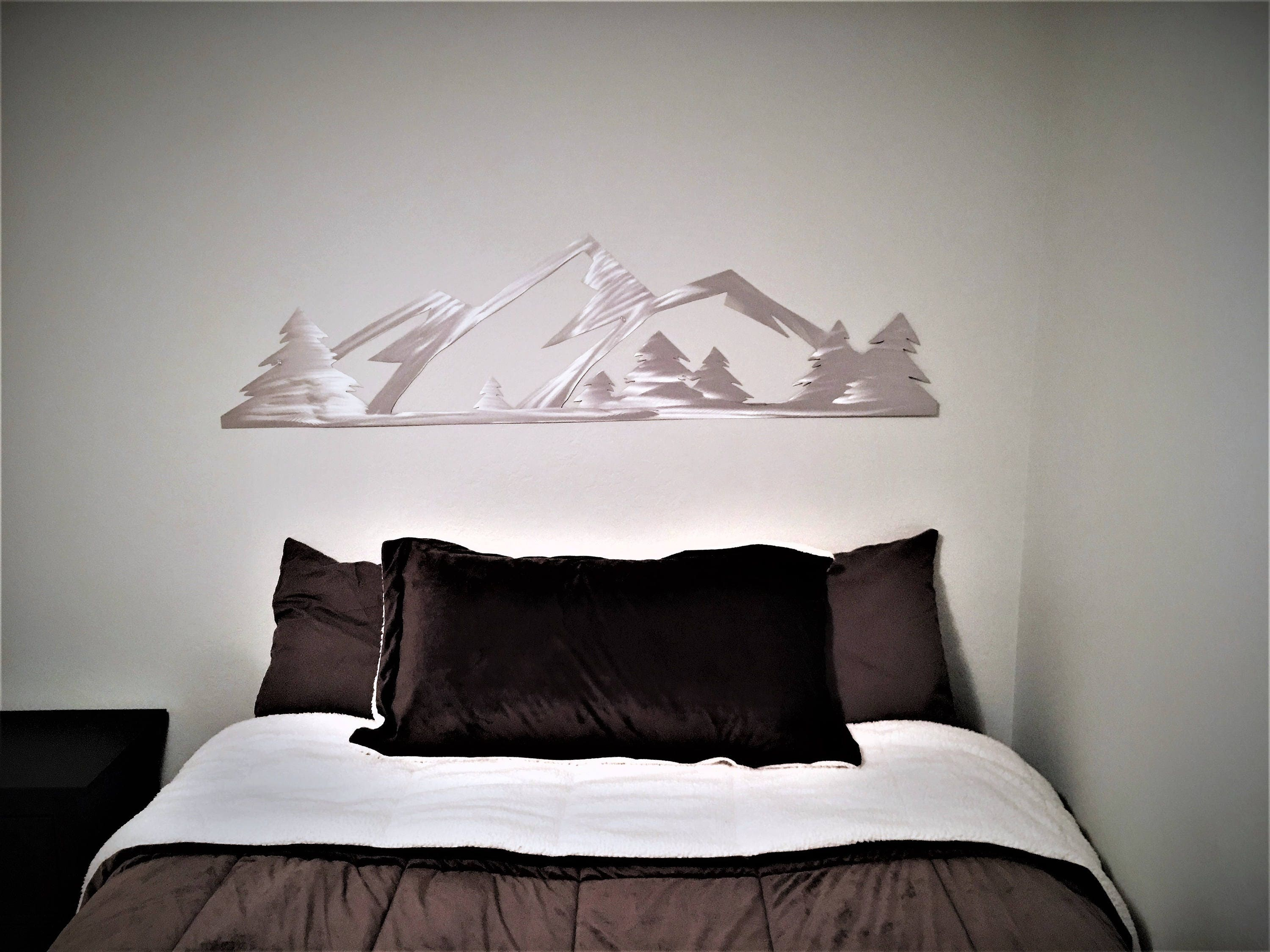 5 ft. Rocky Mountain National Park. Metal Wall Art. Estes Park Colorado. Hand cut mountain range with evergreen trees. Living room / kitchen & 5 ft. Rocky Mountain National Park. Metal Wall Art. Estes Park ...