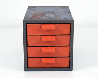 Small Metal Cabinet with 4 Drawers