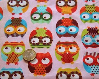 coupon fabric patchwork 47 X 50 cm / OWL