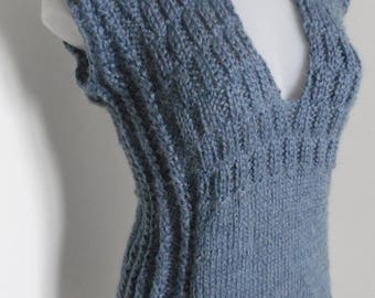 Blue jean jumper size choice, V-neckline, sleeveless