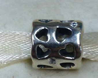 Authentic Pandora Silver Tunnel Of Love Charm #790275CZ