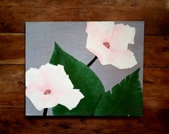 Oil on Canvas Painting by Trudeau, Original Art, Original Painting, Flower Painting,  Trudeau Artist