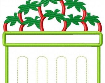 Strawberry Bin Machine Embroidery Design