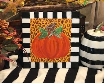 Fall pumpkin painting/ cute fall painting/ fall home decor