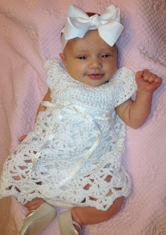 Elegant Rebecca Dress Crochet Pattern Sizes 0 3 Months and 3 6