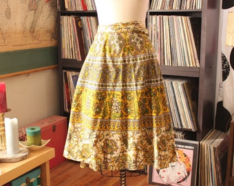 vintage Indian cotton wrap skirt, 1990s Funky People OPEN SIZE up to about 4x, plus size skirt