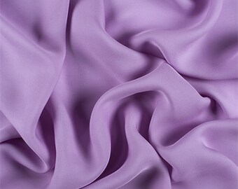 Lavender Silk Double Georgette, Fabric By The Yard