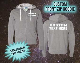 Custom Hoodie - Unisex Zip Up Hooded Sweatshirts - Custom Zip Up Hoodie - Custom Sweatshirt - Personalized Sweater - Personalized Hoodie