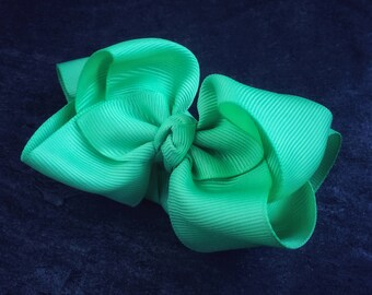 Mint 4 Inch Double Stacked Bow