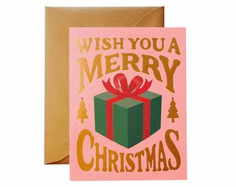 Christmas Present Card - Pink