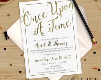 Once upon A Time Baby Shower Invitation Printable DIY No. I274