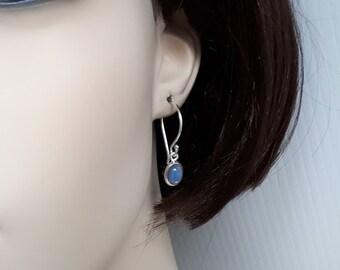 Genuine opal earrings; ethiopian opals, set in 92.5 sterling silver