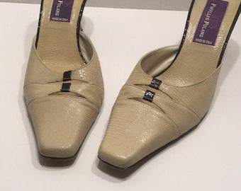 Phyllis Poland Ivory Kitten Heels
