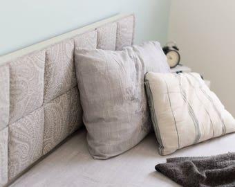 Holiday SALE -headboard pillows,Fabric headboard room decor,bedding decor, Decorative custom headboard,queen headboard, king headboard