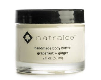 Natralee Body Butter, Grapefruit + Ginger Scent | All Natural | 2 fl oz