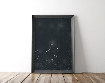 Libra Zodiac Constellation 8x10 Print // fine art print // stars // astronomy // wall art // wall decor // home decor // zodiac sign