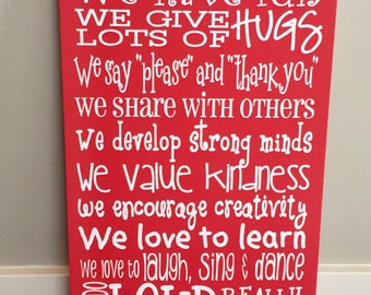Preschool sign / Daycare sign / School sign / Classroom Sign / Teacher Gift / Nanny Gift / Babysitter Gift / Childcare sign