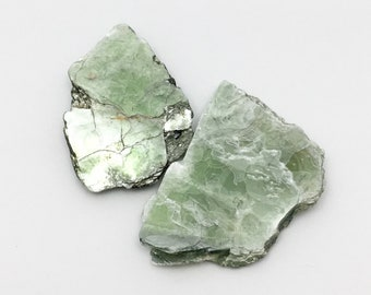 LOT of Two Platy Green Fuchsite Mica Crystal Books from Brazil