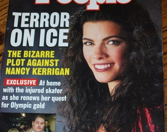 People Magazine January 24, 1994, Nancy Kerrigan Tonya Harding Terror on Ice