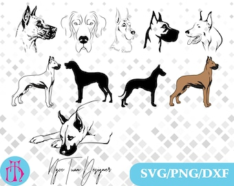 Great Dane svg,png,dxf/Great Dane clipart for Design,Print,Silhouette,Cricut and any more