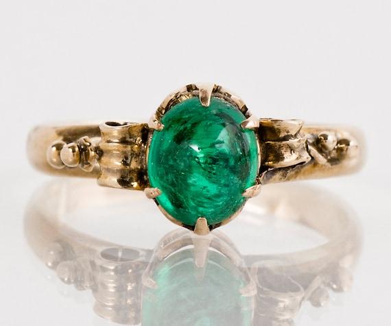 Antique Ring Emerald Ring Antique Victorian 15k Rose Gold