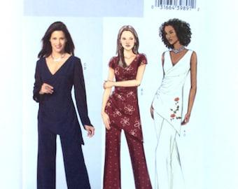 Butterick Pattern B4604, Women's Tunic and Pants Pattern, Women's Top and Pants Pattern, Size BB 8, 10, 12, 14,  Uncut Pattern