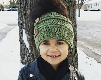 Messy Bun Beanie | Bun Hat | Top Knot Beanie | Woman's Beanie | Custom Top Knot Bun Hat | Kids Bun Hat | Gift for Her | Made to Order