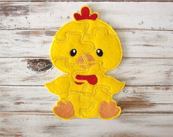 Toddler Puzzle - Chicken Puzzle - Felt - Travel Toy - Learning - Educational Toy
