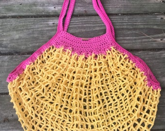 French Market Bag, Beach Bag, Markey Bag, Reusable Bag, Mother's Day gift, Gift for her, two tonw market bag