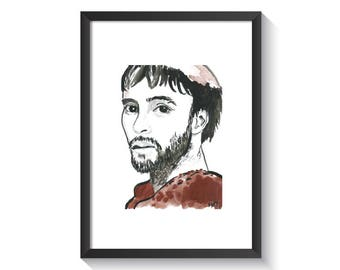 Saint Francis of Assisi Original Watercolor Print