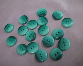 Vintage grün gestreift Kunststoffknöpfe