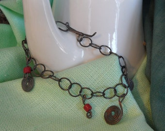 Bracelet with coral