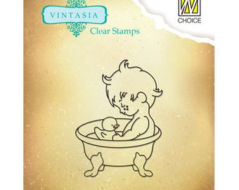 Stamp clear small bath 4 x 5 cm_VINS001
