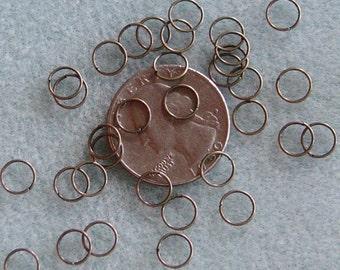 Antique Bronze 7mm Jump Rings 23 gauge Nickel Free SALE 617