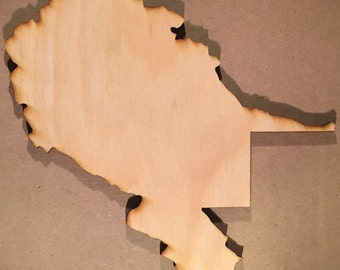 West Virginia WV wooden Cutouts - Large Sizes - Shapes for Projects or Other Use