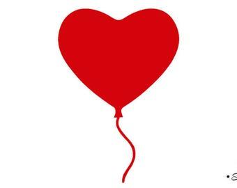 applique red heart balloon flex fusible