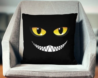Cheshire Cat Pillow | Cheshire Cat Decor | Cheshire Cat Gift | Cheshire Cat Cushion | Cheshire Cat Throw Pillow