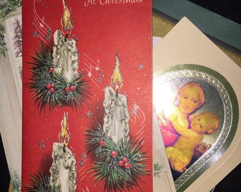 Vintage Christmas Card Lot