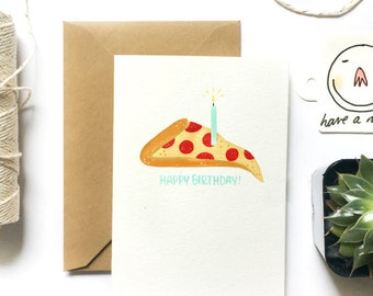 Birthday Card | Birthday Pizza