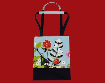 Bag ' frost flower ' floral carrying case