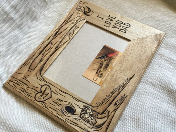 Personalized cowboy cowgirl wood burned frame, 5x7 , daughter gift ...