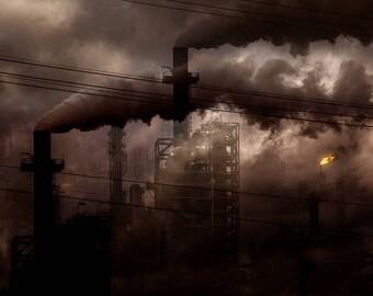 Höllegarten - post apocalyptic dystopia industrial refinery photo