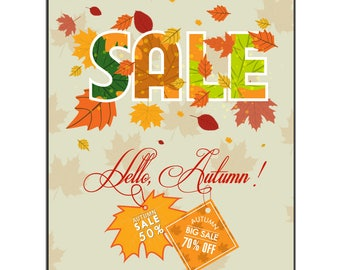 Sale - Autumn Vinyl Banner
