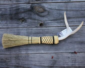 2 Point Antler Whisk Broom